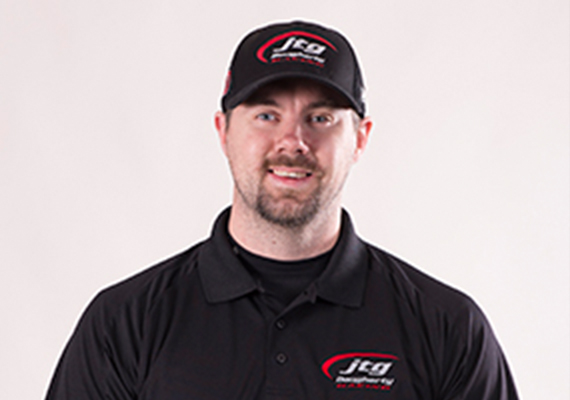 Pit Crew Position: 37 Rear Tire Changer<br /> Birth Date: January 1, 1984<br /> Hometown: : Tyler, Texas <br /> Favorite Sport Outside of NASCAR: Football<br />  Hobbies: : Golf, target shooting <br /> I moved to North Carolina not knowing anyone and was able to work my way up the ranks. I've worked for Joe Gibbs Racing, Hendrick Motorsports and Penske Racing prior to JTG Daugherty Racing. <br />  My first NASCAR Cup win was with the No. 48 car at Talladega Superspeedway. It was, at the time, the closest finish in NASCAR history.<br />  My expectations are to have solid and consistent pit stops all year. <br />  I try to rest and relax in my downtime and spend time with my family. Usually we go to visit family in Texas and Colorado. <br />  Pitting cars at short tracks is the toughest part of my job.<br />  I would eat chicken wings everyday if my wife would let me.