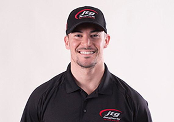 Pit Crew Position: 47 Front Tire carrier<br /> Birth Date: October 28, 1987<br /> Hometown: Union, Kentucky<br /> Favorite Sport Outside of NASCAR: Football<br />  Hobbies Fitness & Outdoors<br />  I started at Hendrick Motorsports where I worked as a tire carrier for four seasons. I attended a tryout in 2012 after a college football career at Morehead State University, and was a part of several wins at Hendrick with the No. 24 team.<br />  The most difficult job about doing pit stops to me is the down time in between stops on race day. The races are long and there are many distractions so it can be difficult at times to maintain focus throughout. My expectations for this season are to have my most accurate and consistent season as a tire carrier yet, and contributing to an overall great season for the No. 47 team.